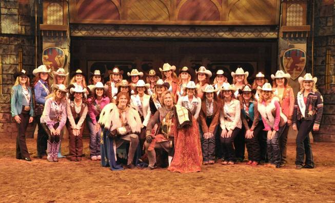 2014 Miss Rodeo America contestants at Tournament of Kings in Excalibur on Wednesday, Dec. 4, 2013.