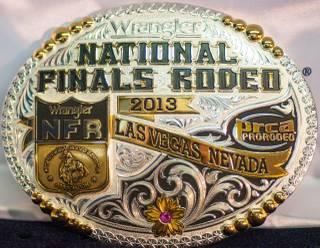Round 1 of the 2013 Wrangler National Finals Rodeo on Thursday, Dec. 5, 2013, at the Thomas & Mack Center at UNLV.