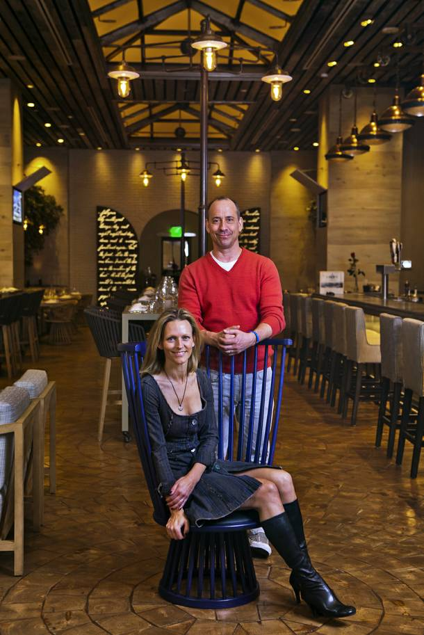 Owners Michael and Jenna Morton at their new restaurant Crush in MGM Grand on Friday, Dec. 6, 2013.