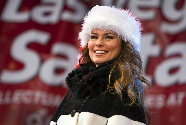 Caesars Palace headliner Shania Twain serves as grand marshal for the 2013 Las Vegas Great Santa Run in downtown Las Vegas on Saturday, Dec. 7, 2013.