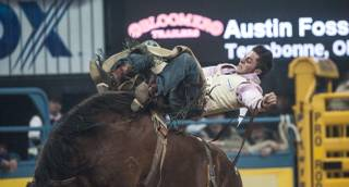 Round 2 of the 2013 Wrangler National Finals Rodeo on Friday, Dec. 6, 2013, at the Thomas & Mack Center at UNLV.