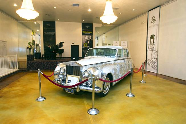 A 1961 Phantom V Rolls Royce that was owned by Liberace is displayed during an open house and book signing at the Liberace house Monday, Dec. 9, 2013. Swank is executive director of the Nevada Preservation Foundation. Liberace's former residence was purchased by British businessman Martyn J. Ravenhill for $500,000 in August.