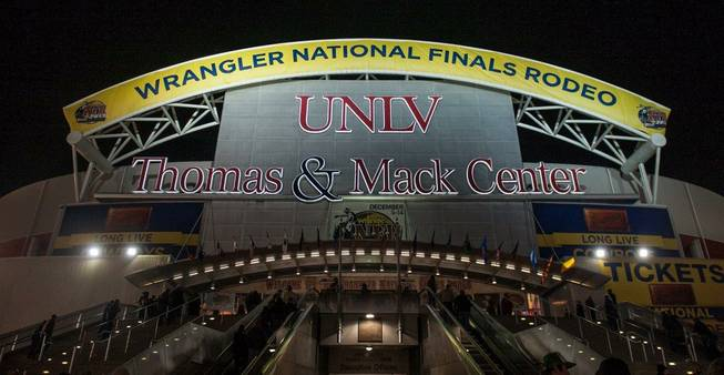 Round 4 of the 2013 Wrangler National Finals Rodeo on Sunday, Dec. 8, 2013, at the Thomas & Mack Center at UNLV.