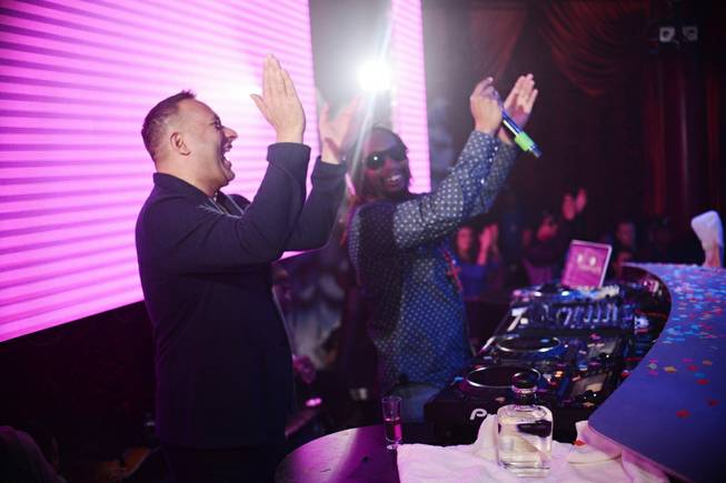 Russell Peters and Lil Jon at Surrender in Encore on Saturday, Dec. 7, 2013.