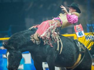 Round 5 of the 2013 Wrangler National Finals Rodeo on Monday, Dec. 9, 2013, at the Thomas & Mack Center at UNLV.