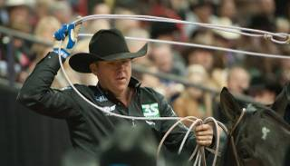 Trevor Brazile became the most decorated cowboy in rodeo history when he claimed his 19th championship gold buckle in Round 6 of the 2013 Wrangler National Finals Rodeo on Tuesday, Dec. 10, 2013, at the Thomas & Mack Center at UNLV.