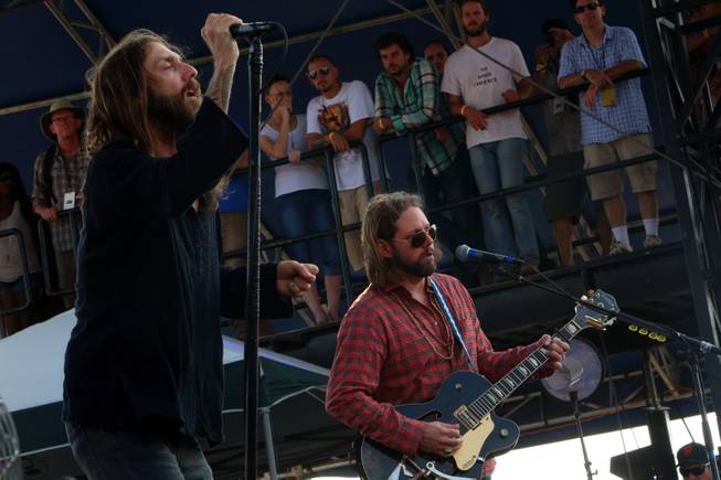 Chris Robinson and Rich Robinson of The Black Crowes perform on Day 4 of the Lockn' Festival at Oak Ridge Farm on Sunday, Sept. 8, 2013, in Arlington, Va.