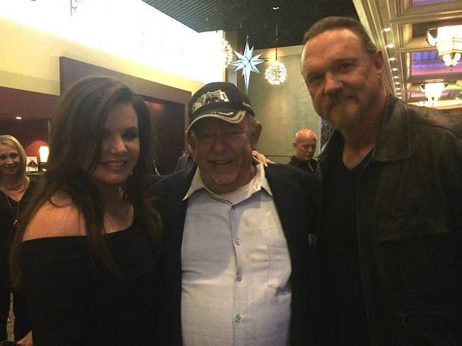 Rhonda Adkins, Robin Leach and Trace Adkins at the 2013 American Country Awards on Tuesday, Dec. 10, 2013, at Mandalay Bay Events Center.