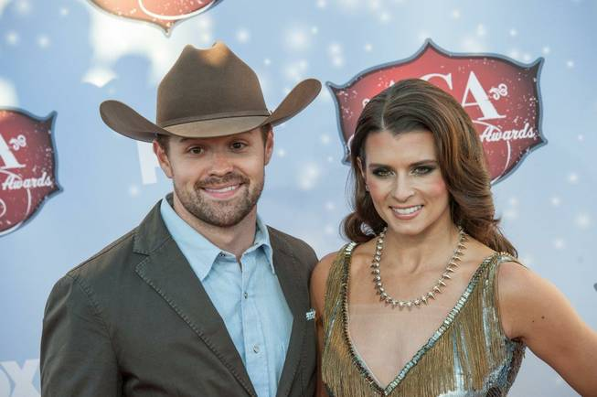 Ricky Stenhouse Jr. and co-host Danica Patrick arrive at the ...