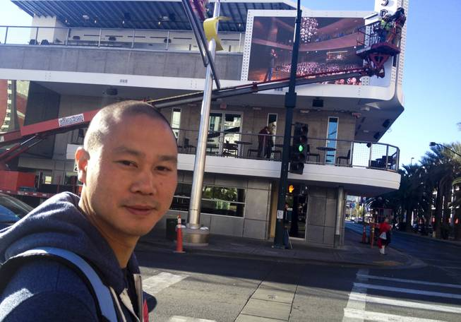 Tony Hsieh in front  of Inspire Theater the day after his birthday.