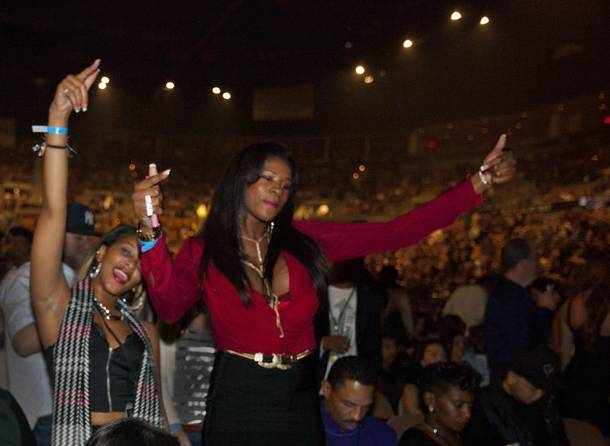 Jay Z fans at the Mandalay Bay Events Center on Friday, Dec. 13, 2013.