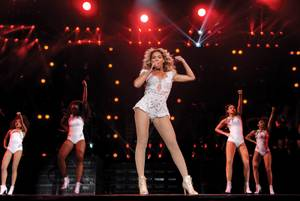 "Beyonce's ""Mrs. Carter Show"" world tour returned to MGM Grand Garden Arena on Friday, Dec. 6, 2013."