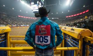 Round 9 of the 2013 Wrangler National Finals Rodeo on Friday, Dec. 13, 2013, at the Thomas & Mack Center at UNLV.