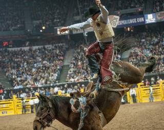 Round 10 of the 2013 Wrangler National Finals Rodeo on Saturday, Dec. 14, 2013, at the Thomas & Mack Center at UNLV.
