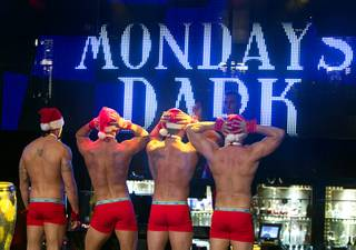 "Members of Chippendales at the Rio perform during ""Mondays Dark"" with Mark Shunock, a monthly charitable event, at Body English in the Hard Rock Hotel on Monday, Dec. 16, 2103. Proceeds from the event benefited Aid for AIDS of Nevada."