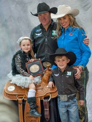 The world champions of the 2013 Wrangler National Finals Rodeo are crowned on Saturday, Dec. 14, 2013, at the Thomas & Mack Center at UNLV.