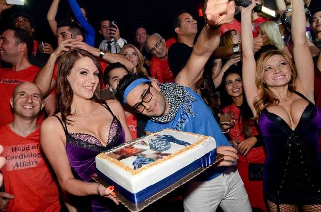 Poker pro Antonio Esfandiari celebrates his 35th birthday at Marquee in the Cosmopolitan on Friday, Dec. 13, 2013.