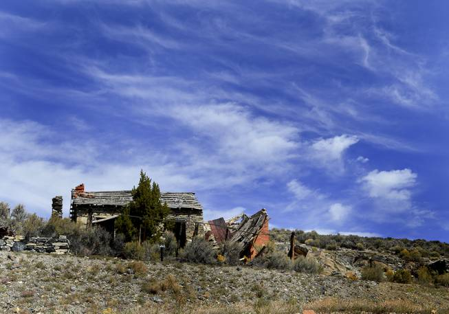 An abandoned and dilapidated building in Belmont, Nevada.