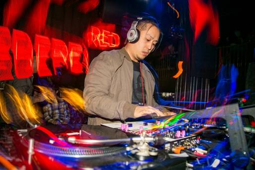 Joe Hahn of Linkin Park at Body English in Hard Rock Hotel Las Vegas.
