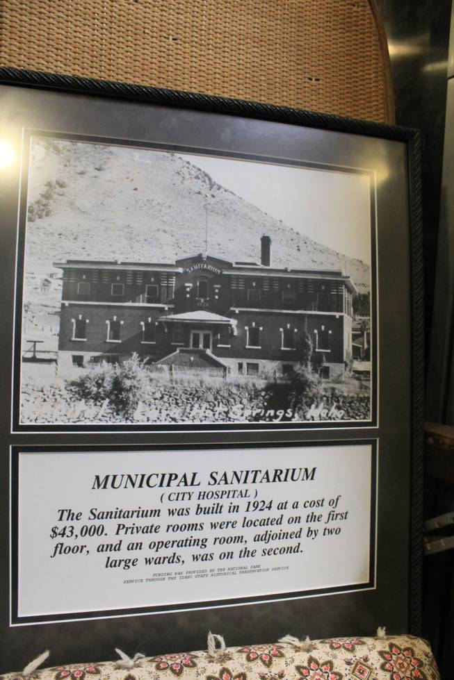 At the Southern Bannock County museum, a little history of the Lava Hot Springs Inn.