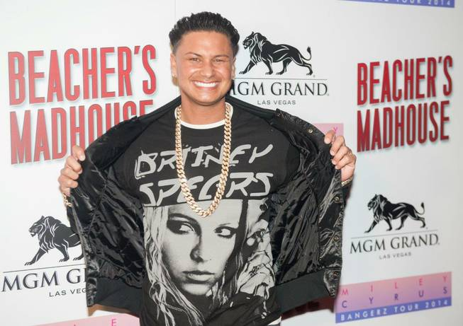DJ Pauly D, a Britney Spears fan, attends the opening of Beacher's Madhouse on Friday, Dec. 27, 2013, at MGM Grand in Las Vegas.