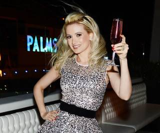 Holly Madison celebrates her 34th birthday at Ghostbar on Saturday, Dec. 28, 2013, in the Palms.