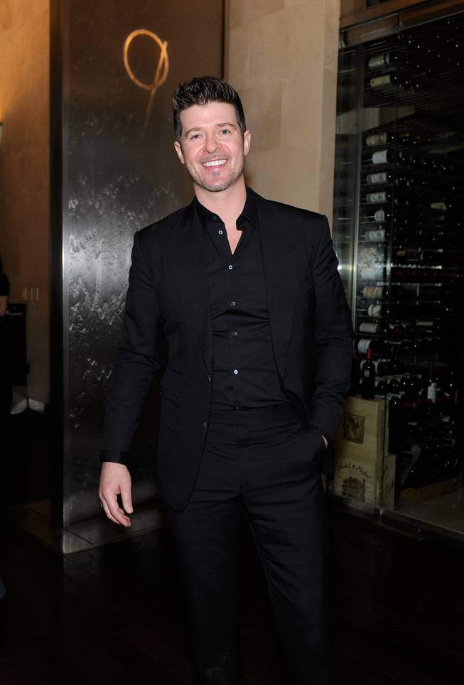 Robin Thicke at N9NE Steakhouse on Sunday, Dec. 29, 2013, in the Palms.