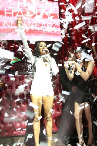 Keri Hilson hosts and performs at LAX on Tuesday, Dec. 31, 2013, in Luxor.