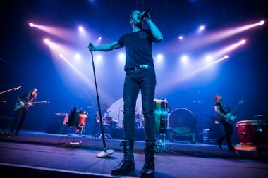 Las Vegas rockers Imagine Dragons in concert at the Joint on Monday, Dec. 30, 2013, in the Hard Rock Hotel Las Vegas. Afterward, frontman Dan Reynolds played DJ at nearby after-hours club Body English.