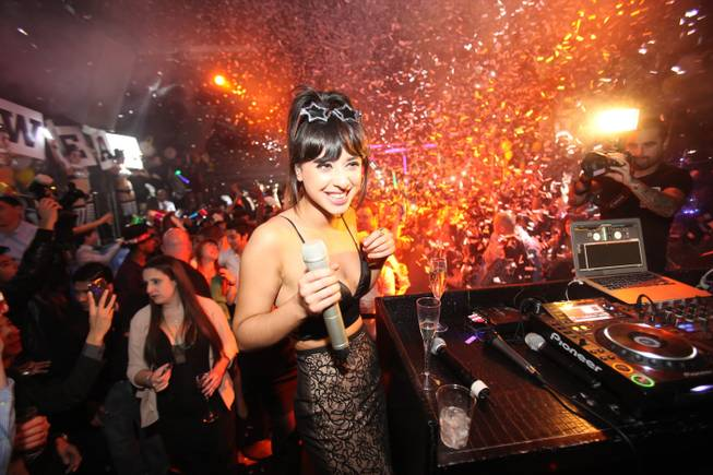 British singer Foxes hosts and performs at Moon on Tuesday, ...