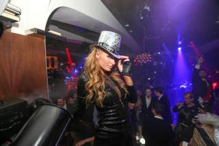 Paris Hilton makes her Strip debut as a DJ on Tuesday, Dec. 31, 2013, at Hyde Bellagio.