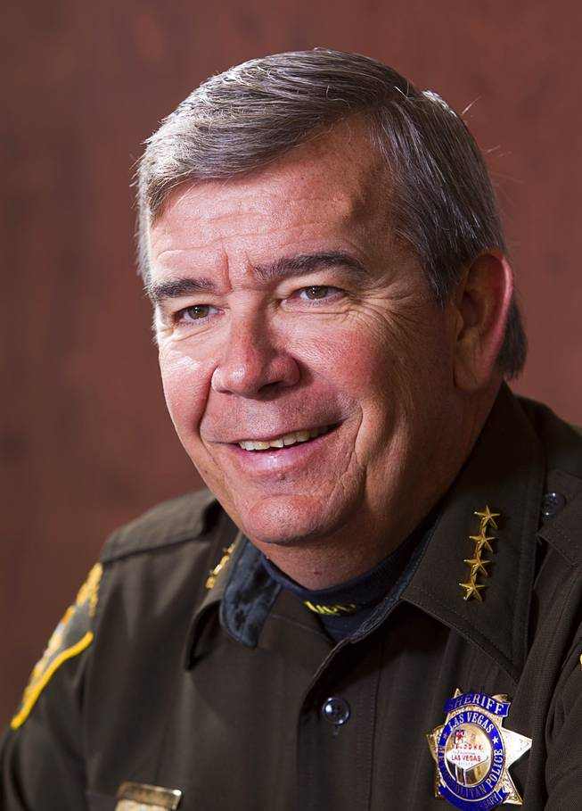 Sheriff Doug Gillespie is shown during an interview at his office in Metro Police Headquarters Thursday, Jan. 2, 2014.