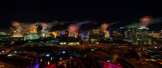 Fireworks on the Strip as seen from the top of ...