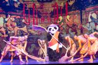 """Panda!"" has Olympican pedigree and Olympic-quality talent. And, it has many guys dressed as pandas."