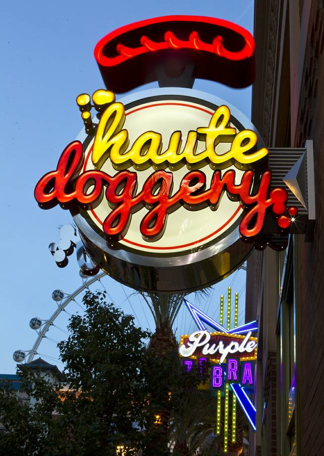 Haute Doggery operates a store now at The Linq shopping and food area between The Quad and The Flamingo on Friday, Jan. 3, 2014.
