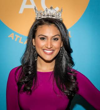 2014 Miss America Nina Davuluri represents DO AC during the NMX: New Media Expo on Saturday, Jan. 4, 2014, at the Rio.