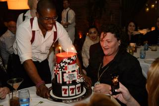 Dot Marie Jones celebrates her 50th birthday at Lavo on Saturday, Jan. 4, 2013, in Palazzo.