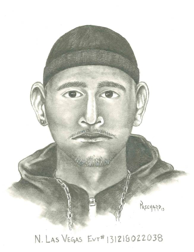 Police sketch of man who girl says ordered her into van Dec. 18, 2013, near Von Tobel Middle School in North Las Vegas.