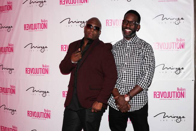 Wanya Morris and Shawn Stockman of Boyz II Men host at The Beatles Revolution Lounge on Tuesday, Dec. 31, 2013, in the Mirage.
