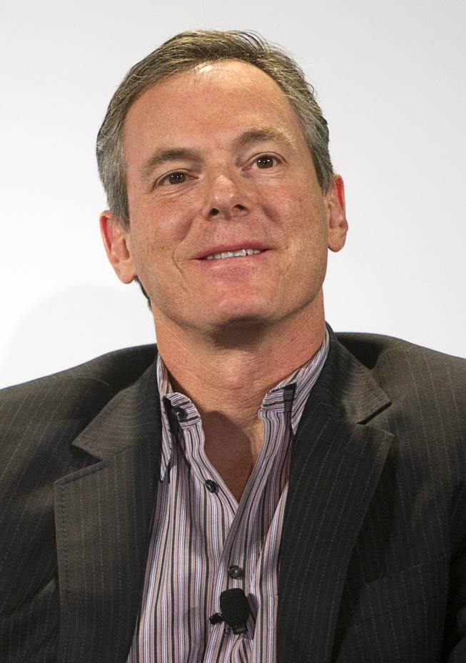 Paul Jacobs, chairman and CEO of Qualcomm, is shown during a panel discussion at the 2014 International Consumer Electronics Show (CES) in Las Vegas, Tuesday Jan. 7, 2014.