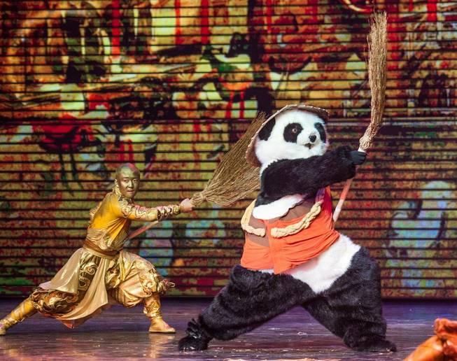 "A sneak peek at ""Panda!"" on Friday, Jan. 3, 2014, in Palazzo."