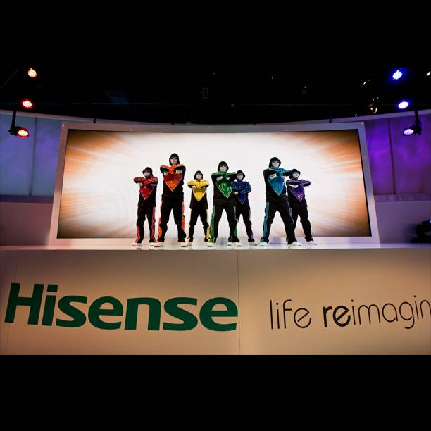 Luxor headliners Jabbawockeez perform at the Hisense area at the 2014 International Consumer Electronics Show on Tuesday, Jan. 7, 2014, in Las Vegas.