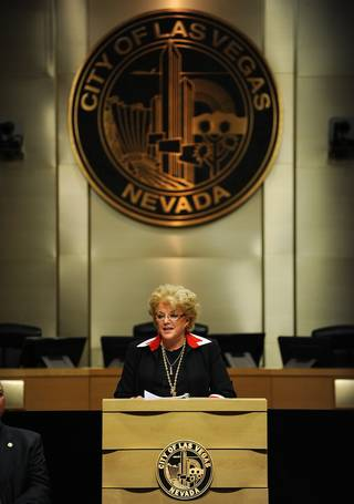 Las Vegas Mayor Carolyn G. Goodman speaks during the 2014 Las Vegas State of the City address at City Hall on Thursday evening.