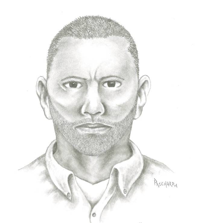 A composite sketch of a suspect in a sexual assault that took place on Dec. 27, 2013, near Durango Drive and  Sahara Avenue.