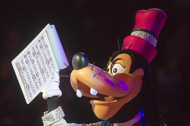 "Goofy is shown during ""Disney On Ice: Rockin' Ever After"" at the Thomas & Mack Center Thursday, Jan. 16, 2014. The show plays at the center through Sunday."