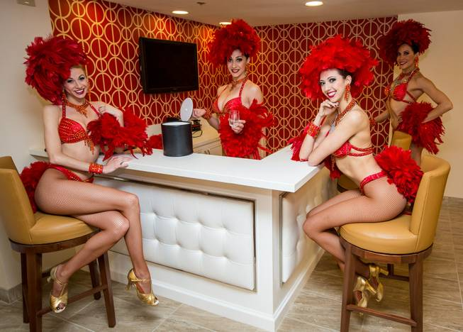 """Jubilee!"" showgirls in the Jubilee Tower at Bally's in Las Vegas."
