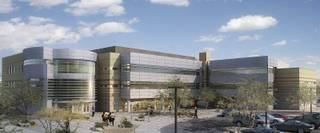 Rending of the newly proposed Nevada State College Nursing, Science, & Education building.