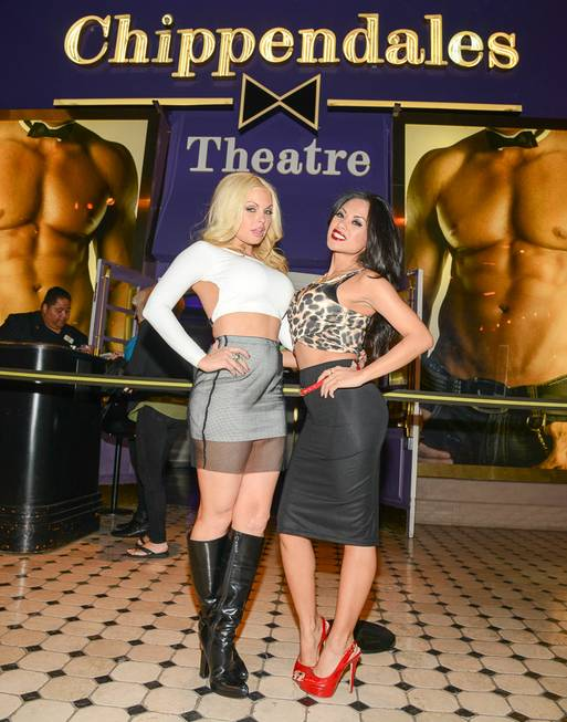 Jesse Jane and Kaylani Lei at Chippendales on Wednesday, Jan. ...