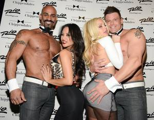 Jesse Jane and Kaylani Lei at Chippendales