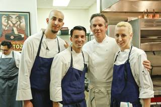 Chef Thomas Keller, second from right, at Chefs to the Max, a fundraiser for food critic Max Jacobson, at Rx Boiler Room on Sunday, Jan. 19, 2014, in Mandalay Place.